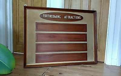 Large Original Vintage Cinema Sign Forthcoming Attractions - Pub Club Shop Cool
