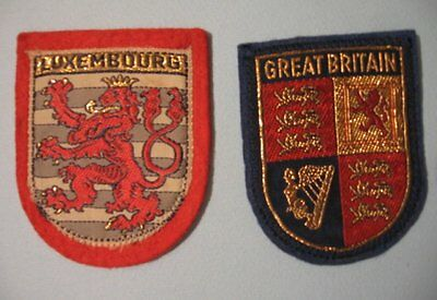 Great Britain, Luxembourg - 2 toppe / Patches vintage - come nuove - AD135