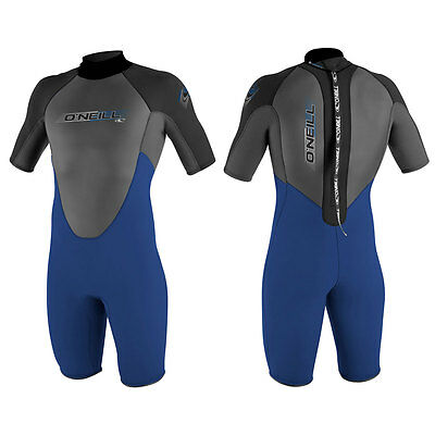 2017 O'Neill Reactor Shorty Wetsuit 2MM Mens Navy Graphite Black