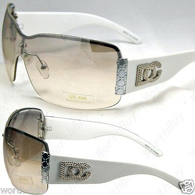 DG Rimless Metal Heart Womens Designer Sunglasses Shades Large Fashion Retro New