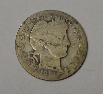 USA 1912S Barber Quarter Dollar. Lower grade.