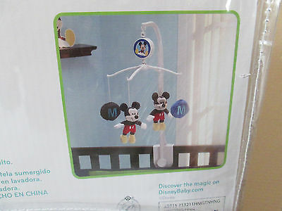 """Disney  Mickey Mouse  Baby Crib Musical Mobile """"M"""" is for Mickey"""