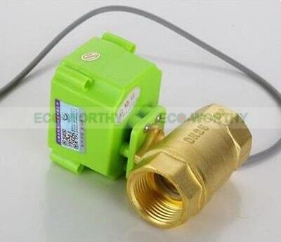 "12V Brass Motorized Electrical Ball Valve 1/2"" 3/4"" 1"" CR-01/02 CR-04/05 145PSI"