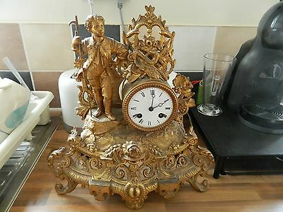 Ornate Marti Ormoulu French Mantle Clock Needs A Little Work