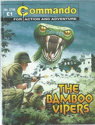 The Bamboo Vipers,commando For Action And Adventure,no.3789,war Comic,2005