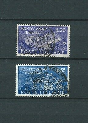 ITALIE - 1951 YT 602 à 603 - TIMBRES OBL. / USED