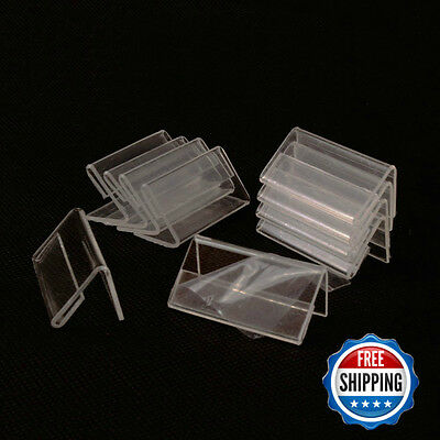 Airgoesin 50pcs Mini Sign Display Holder Price Card Tag Label Counter Top Stand
