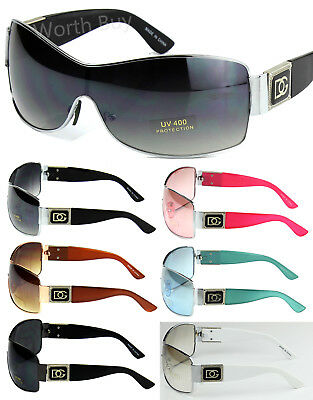 New DG Eyewear Womens Mens Shield Designer Sunglasses Shades Around Retro Wrap