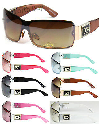 New DG Womens Shield One Lens Designer Fashion Sunglasses Shades Wrap Around 028