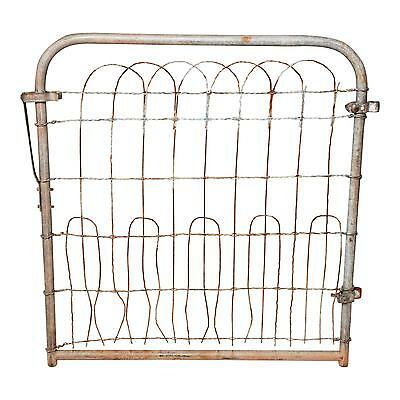 Vintage METAL GATE Fence antique garden victorian old door architectural salvage
