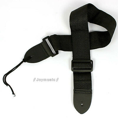 1x black Guitar Strap Acoustic Electric Guitar Bass Nylon Adjustable Strap Belt
