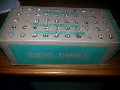 2009- d  DIME BOX....Roosevelt dime- 50 rolls....sealed box --n.f.string and son