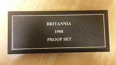 1988 Great Britain Britannia 4-pc Gold Proof Set w/ Box COA