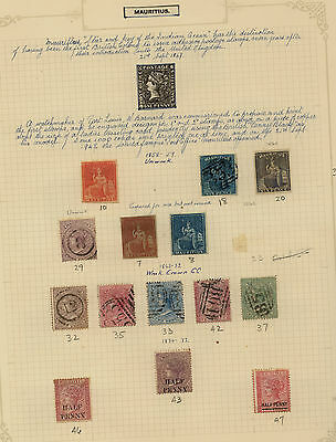 Mauritius  nice lot of mint and used stamps on pages            KEL1218