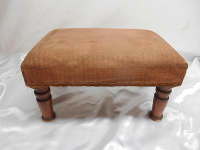 Antique Primitive Wood FOOTSTOOL Ottoman Stool Furniture Old Vtg Decor