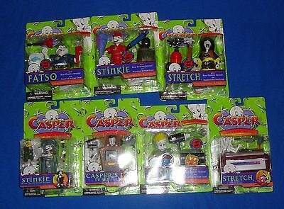 Casper the Friendly Ghost Figure Lot of 7 All Carded