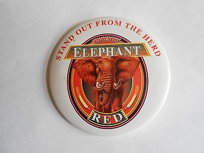 Vintage Elephant Red Imported Beer Advertising Pinback Button
