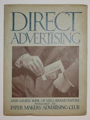 c 1918 SAMPLE BOOK MILL BRAND PAPER, MAKERS ADVERTISING CLUB Old Job Printing AD