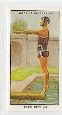 #43 back dive (a) the stance swimming r card