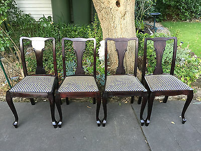 Set of 4 Lovely Antique Mahogany Dining Chairs!