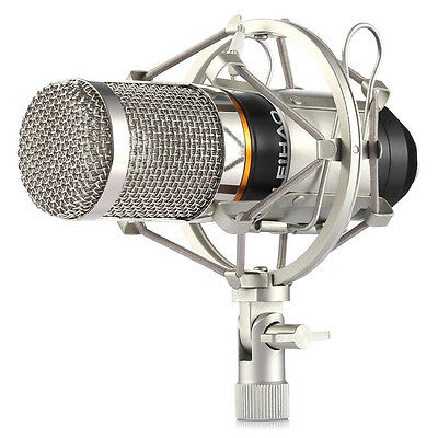 Condenser Microphone Sound Recording w/ Shock Mount For Laptop PC MAC Youtube
