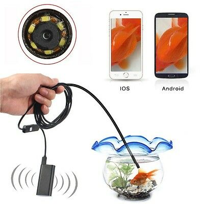 5.5mm 6LED Waterproof Wifi Android iPhone Endoscope Borescope Inspection Camera