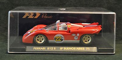 C3 Fly Slot Car 1/32  Ferrari 512S  Buenos Aires 1971 N.A.R.T USED