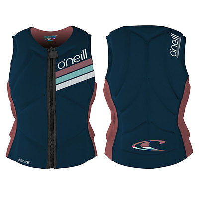 2017 O'Neill Slasher Comp Ladies Front Zip Comp Vest Slate Mesarose