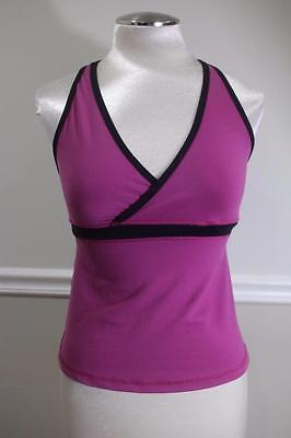 Lululemon Athletica Women's Purple/Black Yoga Tank Top Size 8 (lu100