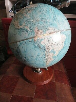 Large Vintage Retro Scan Globe AS Denmark Danish Teak 60s 70s