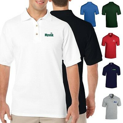 50 Golf Shirts Custom Printed with Your Logo or Message-Moisture Wicking