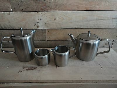 Vintage Retro Old Hall  Tea and Coffee Set  Stainless Steel
