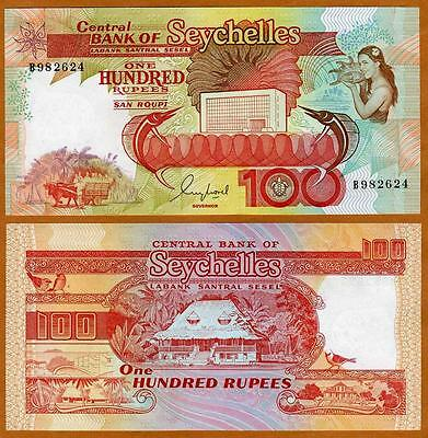 Seychelles / Africa, 100 rupees, ND (1989), P-35, UNC