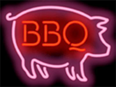 BBQ PIG GRAPHIC BBQ RESTAURANT Genuine Neon Sign JANTEC USA Fast Free Shipping