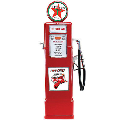 NEW Texaco Gasoline Vintage Styled Gas Pump Coin Bank 1:8 Scale Metal Replica