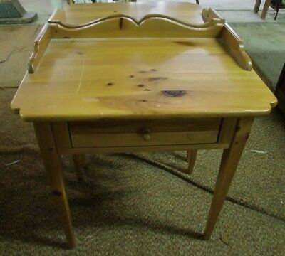 Ethan Allen Pair of Matching One Drawer Night Stands End Stands Knotty Pine