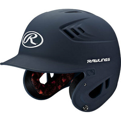Rawlings R16 R16MS-MN Senior (6 7/8 - 7 5/8) Matte Navy Batting Helmet