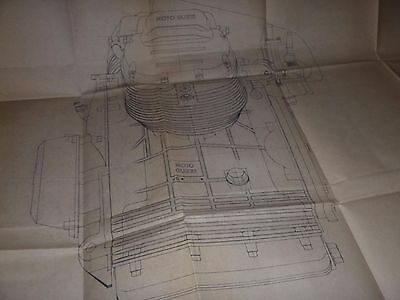 1976    Moto Guzzi  850 T3  Engine  -Blueprint