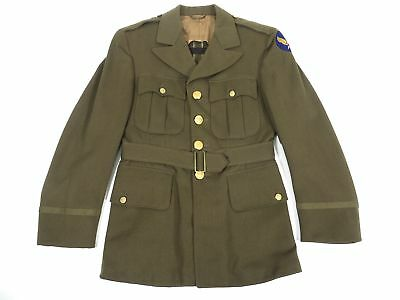 WWII Army Air Corps Officer's Uniform Jacket Olive Green WW2