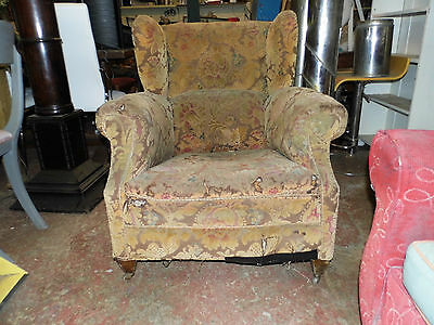 wing back armchair Antique Victorian?