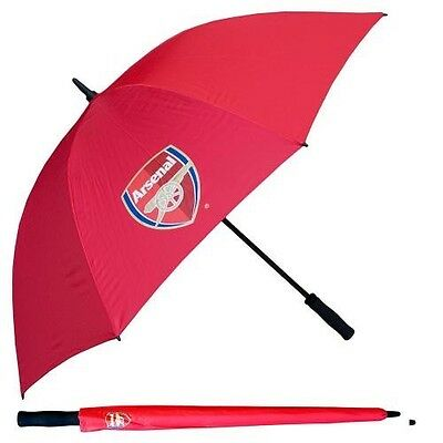 Arsenal Football Club Crested Red Single Canopy Golf Umbrella Free UK P&P