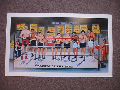 Boxing All-Stars 'Legends of the Ring' 7x Autographed Lithograph
