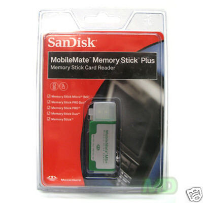 NEW SanDisk MobileMate Memory Stick Plus Card Reader USB 2.0 - (SDDR-108-A11M)
