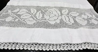 Antique Vintage lace linen  Towels  perfect COTTAGE LINENS
