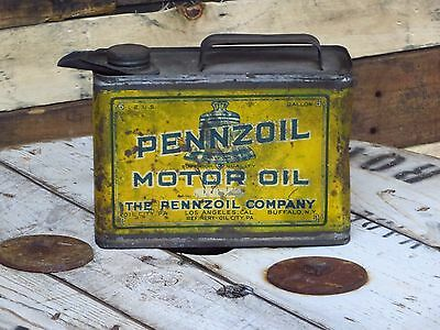 1/2 gallon Pennzoil vintage motor oil can