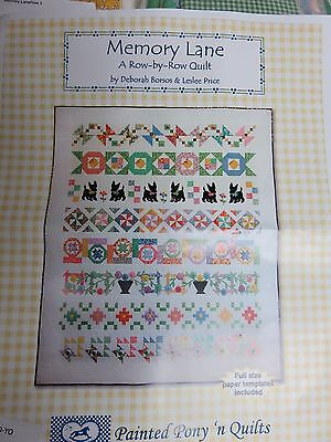 Quilt Top Fabric Kit- Memory Lane A Row By Row Queen Quilt- Block of the Month