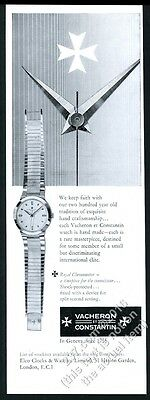 1960 Vacheron and Constantin Royal Chronometer watch photo vintage print ad