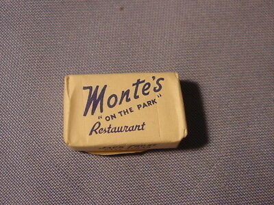 Vintage Monte's On The Park Restaurant New York City Sugar Cube