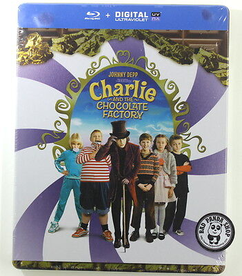 Charlie and the Chocolate Factory Steelbook Blu-Ray Region Free Tim Burton