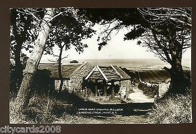 HERM ISLAND   The Upper Road showing Bullock Shoeing Stock   RP  with Herm Stamp